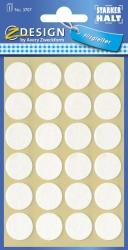 3707 Z-Design Filzgleiter rund, weiß, 18 mm,  24 Stück
