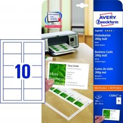 C32011-10 Superior Visitenkarten, 85 x 54 mm, einseitig beschichtet - matt, 10 Blatt/100 Stück