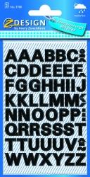 3780 Buchstaben-Etiketten - A-Z, 9,5 mm, schwarz, selbstklebend, wetterfest, 104 Etiketten