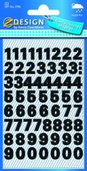 3781 Zahlen-Etiketten - 0-9, 9,5 mm, schwarz, selbstklebend, wetterfest, 120 Etiketten