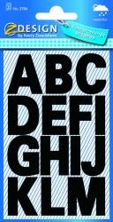 3784 Buchstaben-Etiketten - A-Z, 25 mm, schwarz, selbstklebend, wetterfest, 28 Etiketten