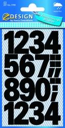3781 Zahlen-Etiketten - 0-9, 25 mm, schwarz, selbstklebend, wetterfest, 28 Etiketten