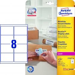L7165-40 Versand-Etiketten - 99,1 x 67,7 mm, weiß, 320 Etiketten/40 Blatt, permanent, für B4/C4 Kuverts