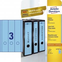 L4753-20 Ordner-Etiketten - breit/lang, (A4 - 20 Blatt) 60 Stück, blau