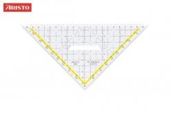 Zeichendreieck TZ-Dreieck®, Plexiglas® mit Griff, 225 mm, glasklar
