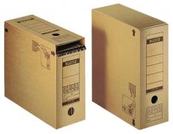 6086 Archiv-Schachtel, A4, mit Verschlussklappe, naturbraun