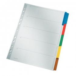 4320 Register - blanko, Karton, A4, 5 Blatt, Taben 5-farbig