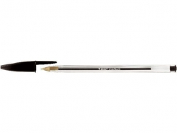 Kugelschreiber Cristal® Medium, 0,4 mm, schwarz