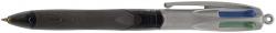 Vierfarbkugelschreiber 4 Colours GRIP PRO - dokumentenecht, 0,4 mm, schwarz/grau