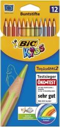 Buntstift Kids Tropicolors 2 - 12-farbig sortiert, Kartonetui à 12 Stück