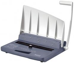 7401 Drahtbindegerät wireBIND 300, für A4, bis zu 125 Blatt, blau/silber