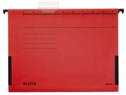 1986 Hängetasche ALPHA® - seitlich mit Fröschen, Recyclingkarton, rot