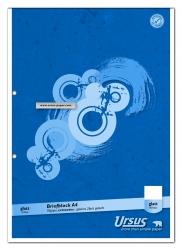 Briefblock - A4, 50 Blatt, 70 g/qm, blanko, 2-fach Lochung