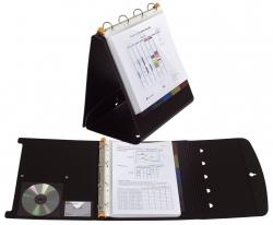 Exactive® Präsentationsmappe - A4 quer, schwarz, 25 Hüllen, 5 Register