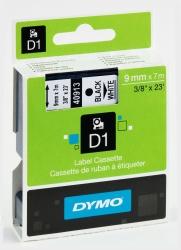 Schriftband D1, Kunststoff, laminiert, 7 m x 9 mm, Schwarz/Weiß