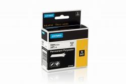 Permanentes Polyesterband Industrieband, Polyester, 5,5 m x 9 mm, schwarz/weiß