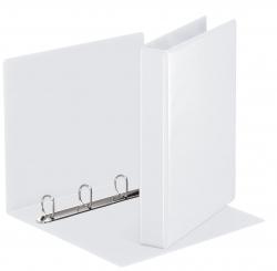 Ringbuch Präsentation, mit Taschen, A4, PP, 4 Ringe, 30 mm, weiß