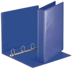 Ringbuch Präsentation, mit Taschen, A4, PP, 4 Ringe, 30 mm, blau
