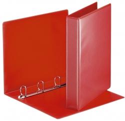 Ringbuch Präsentation, mit Taschen, A4, PP, 4 Ringe, 30 mm, rot