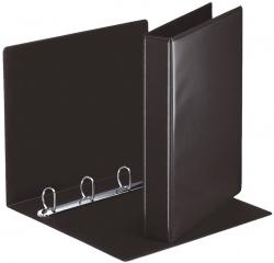 Ringbuch Präsentation, mit Taschen, A4, PP, 4 Ringe, 30 mm, schwarz