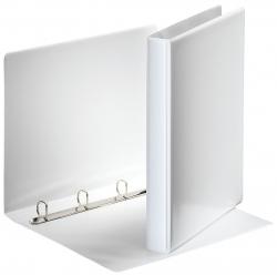 Ringbuch Präsentation, mit Taschen, A4, PP, 4 Ringe, 20 mm, weiß