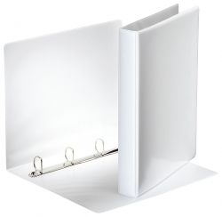 Ringbuch Präsentation, mit Taschen, A4, PP, 4 Ringe, 25 mm, weiß