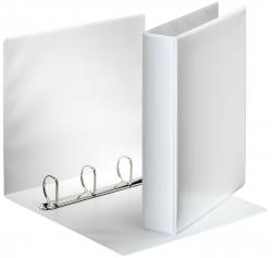 Ringbuch Präsentation, mit Taschen, A4, PP, 4 Ringe, 40 mm, weiß