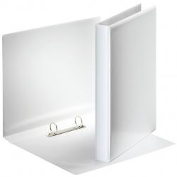 Ringbuch Präsentation, mit Taschen, A4, PP, 2 Ringe, 25 mm, weiß