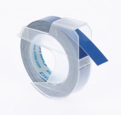 Prägeband 3D, Kunststoff, selbstklebend, 3 m x 9 mm, glänzend blau