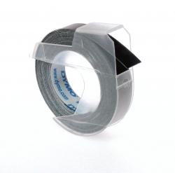 Prägeband 3D, Kunststoff, selbstklebend, 3 m x 9 mm, glänzend schwarz
