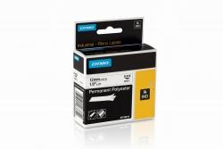 Permanentes Polyesterband Industrieband, Polyester, 5,5 m x 12 mm, schwarz/weiß
