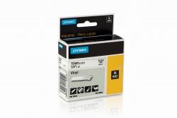 Vinylband Industrieband, PVC, laminiert, 5,5 m x 12 mm, schwarz/weiß