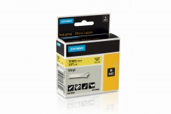 Vinylband Industrieband, PVC, laminiert, 5,5 m x 12 mm, schwarz/gelb