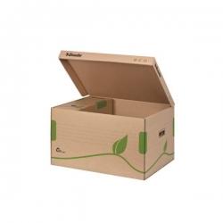 Archiv Container ECO, mit Deckel, Karton, naturbraun