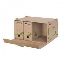 Archiv Container ECO, mit Klappdeckel, Karton, naturbraun