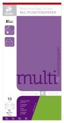 Briefhülle Multifunktionspapier 7X Plus - DL ohne Fenster, limone, 10 Stück
