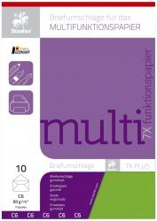 Briefhülle Multifunktionspapier 7X Plus - C6 ohne Fenster, limone, 10 Stück