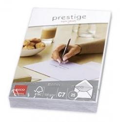 Briefumschlag Prestige - C7, 25 Stück, hochweiß, gummiert