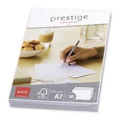 Briefkarte Prestige - A7, 50 Stück, hochweiß, satiniert