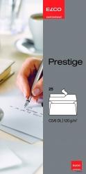 Briefumschlag Prestige - DL, 25 Stück, hochweiß, haftklebend