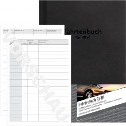 223D Fahrtenbuch - A5, steuerlicher km-Nachweis, 48 Blatt, weiß