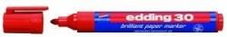 30 Brilliant paper marker - nachfüllbar, 1,5 - 3 mm, rot