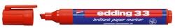 33 Brilliant paper marker - nachfüllbar, 1 - 5 mm, rot