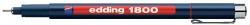 1800 Faserzeichner profipen - 0,35 mm, rot