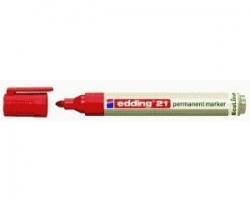 21 Permanentmarker EcoLine - nachfüllbar, 1,5 - 3 mm, rot