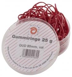 Gummiringe - Ø85 mm, Dose mit 25g, rot