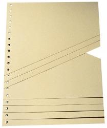 Staffel-Trennblätter - A4, chamois, 100 Stück