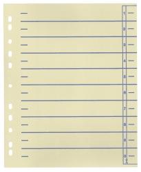 Trennblätter, farbiger Organisationsdruck - A4 Überbreite, blau, 100 Stück