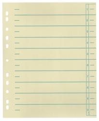 Trennblätter, farbiger Organisationsdruck - A4 Überbreite Überbreite, grün, 100 Stück