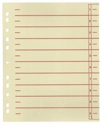 Trennblätter, farbiger Organisationsdruck - A4 Überbreite, rot, 100 Stück